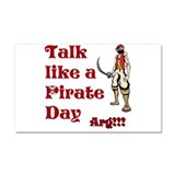 Talk Like A Pirate Day Car Magnet 20 x 12