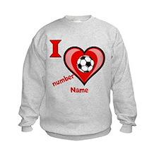Customizable Soccer Love Sweatshirt