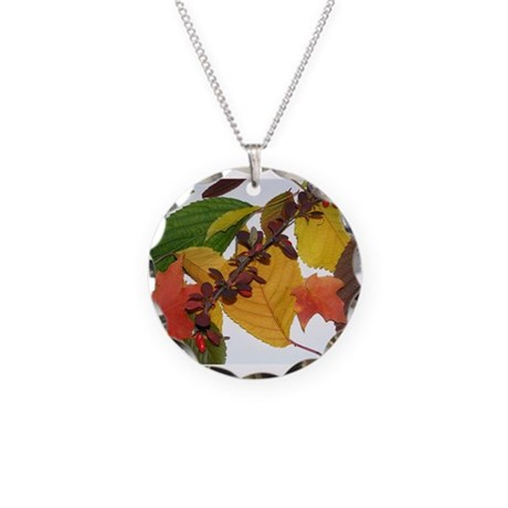 Autumn Colors Necklace Circle Charm