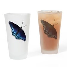 Red Spotted Purple Butterfly Drinking Glass