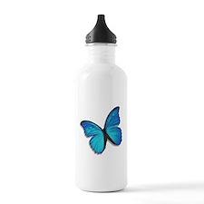 Blue Morpho Butterfly Sports Water Bottle