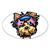 Yorkie Rocker Decal