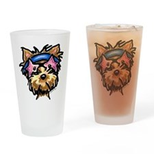 Yorkie Rocker Drinking Glass