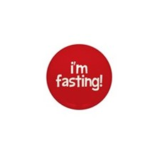 Fasting Mini Button 10 pack (red)
