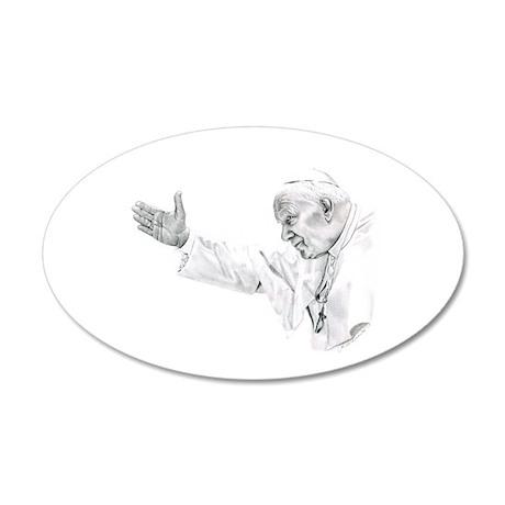 Pope John Paul II 38.5 x 24.5 Oval Wall Peel