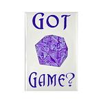 d20 Got Game? Rectangle Magnet (100 pack)
