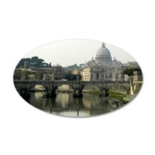 Vatican City 22x14 Oval Wall Peel