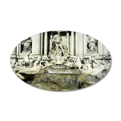 Trevi Fountain 1 22x14 Oval Wall Peel