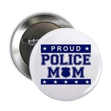 Proud Police Mom Button