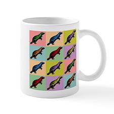 Honey Badger Pop Art Coffee Small Mug