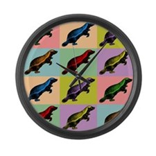 Honey Badger Pop Art Large Wall Clock