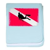 Scuba Diving Flag baby blanket