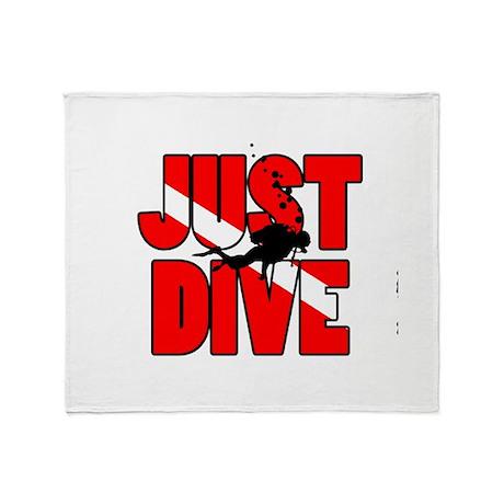 Just Dive Throw Blanket