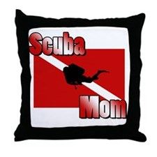 Scuba Mom Throw Pillow