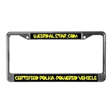 Polka-Powered Vehicle License Plate Frame