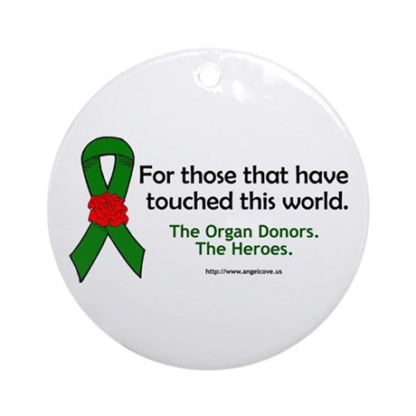 Organ Donor Heroes Ornament (Round)