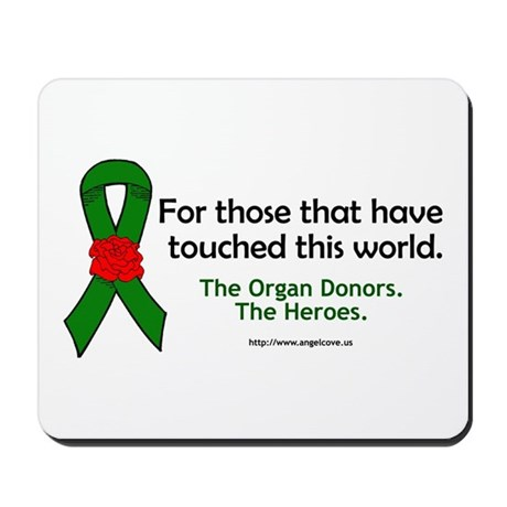 Organ Donor Heroes Mousepad