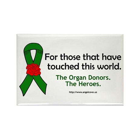 Organ Donor Heroes Rectangle Magnet (10 pack)