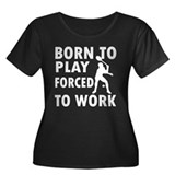 Born to play Badminton Women's Plus Size Scoop Nec