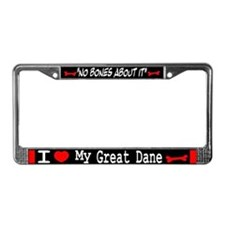 Great Dane Gifts License Plate Frame
