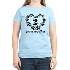 2nd Anniversary Heart T-Shirt