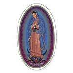 12 Lady of Guadalupe Sticker (Oval)