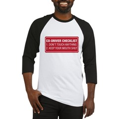 Co-Driver Checklist Baseball Jersey