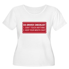 Co-Driver Checklist Women's Plus Size Scoop Neck T