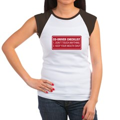 Co-Driver Checklist Women's Cap Sleeve T-Shirt