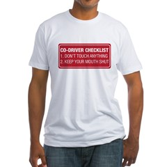 Co-Driver Checklist Fitted T-Shirt