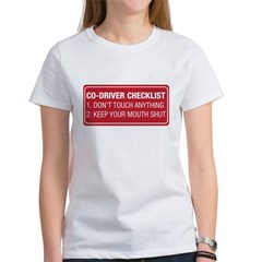 Co-Driver Checklist Women's T-Shirt