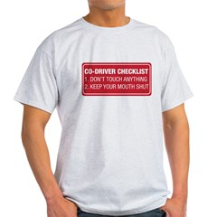 Co-Driver Checklist Light T-Shirt
