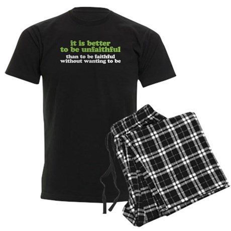 It is better to be unfaithful Men's Dark Pajamas