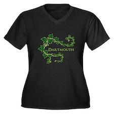 Ivy League Women's Plus Size V-Neck Dark T-Shirt