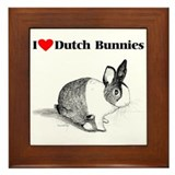 Dutch Bunny Framed Tile