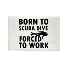 Born to Scuba Dive Rectangle Magnet