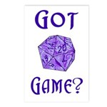 d20 Got Game? Postcards (Package of 8)