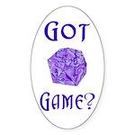 d20 Got Game? Oval Sticker