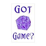 d20 Got Game? Rectangle Sticker
