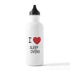 I heart sleepovers Water Bottle