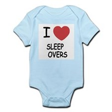 I heart sleepovers Infant Bodysuit