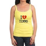 I Heart Tennis - Girl 2 Jr.Spaghetti Strap