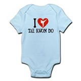I Heart Tae Kwon Do - Girl Infant Bodysuit
