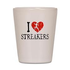 I Heart Streakers Shot Glass