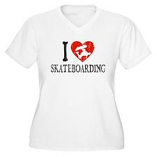 I Heart Skateboarding T-Shirt