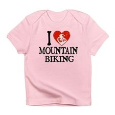 I Heart Mountain Biking Infant T-Shirt