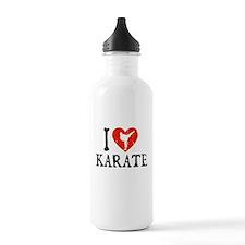 I Heart Karate - Girl Water Bottle