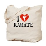 I Heart Karate - Girl Tote Bag