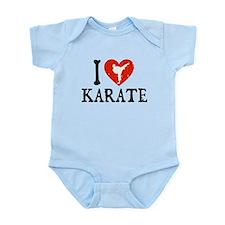 I Heart Karate - Girl Infant Bodysuit