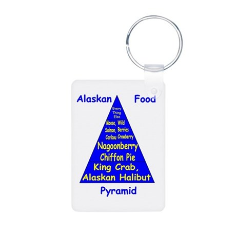 Alaskan Food Pyramid Aluminum Photo Keychain